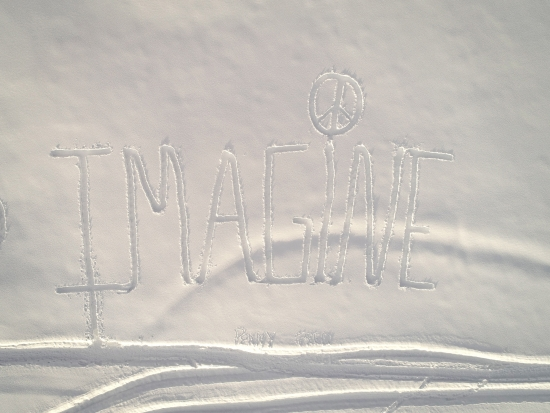 Imagine in the 2019 Snow Drawing