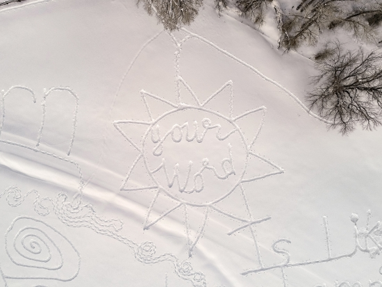 Your Word in the 2019 Snow Drawing