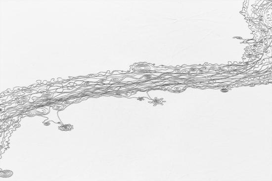 Yampa River snow drawing