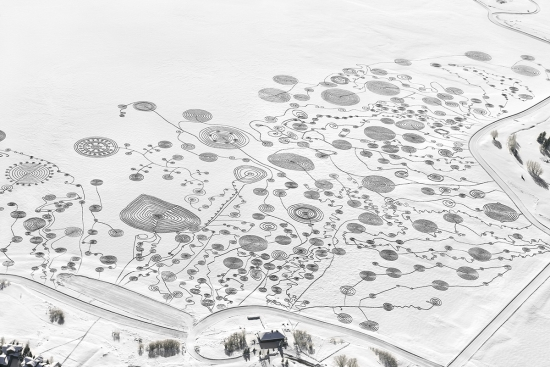 2013 snow drawing on Lake Catamount