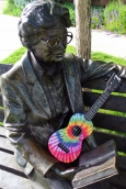 Hazie Werner Statue Playing the Ukulele