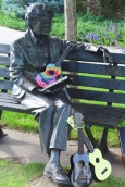 Hazie Werner Statue with Ukuleles