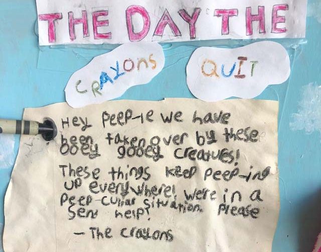 The Day the Crayons Quit by Lucy Gray & Clara Gray - Entry 13