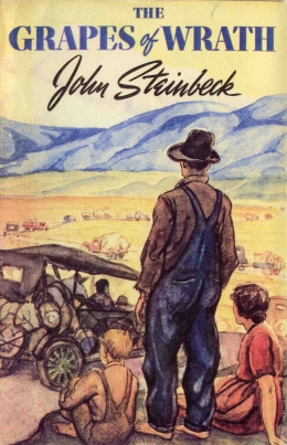 Grapes of Wrath Book Cover