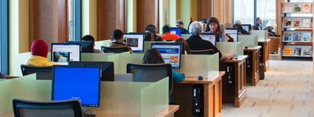 Public Computer Stations at the Bud Werner Memorial Library