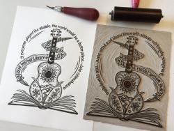 Jill Bergman's Ukulele Print Process